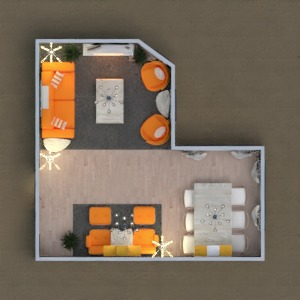 planos muebles decoración salón reforma descansillo 3d