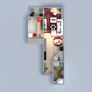 floorplans appartement meubles décoration salon studio 3d