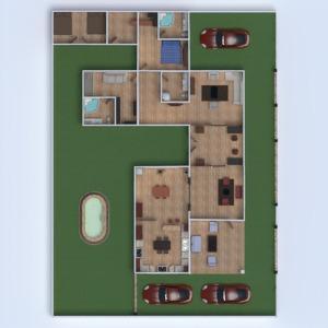 floorplans casa mobílias decoração casa de banho dormitório quarto garagem cozinha área externa iluminação utensílios domésticos 3d