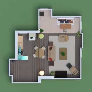 floorplans apartment house furniture living room kitchen 3d