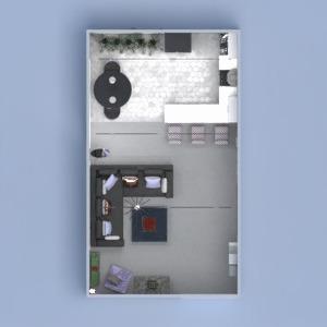 floorplans butas namas dekoras svetainė virtuvė 3d