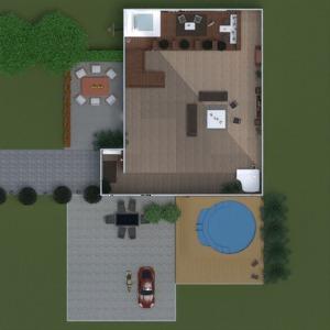 floorplans apartamento casa varanda inferior mobílias decoração faça você mesmo quarto 3d