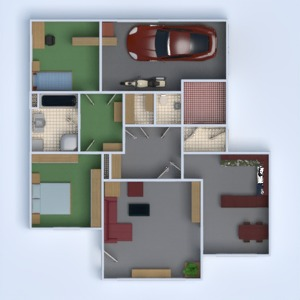 floorplans haus mobiliar badezimmer schlafzimmer wohnzimmer garage kinderzimmer 3d