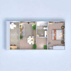 floorplans apartment bedroom living room kitchen 3d