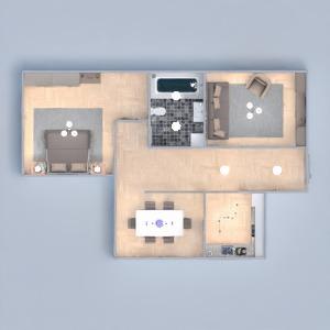 floorplans appartement maison meubles chambre à coucher salon 3d