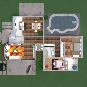 floorplans house terrace furniture decor bathroom bedroom living room garage kitchen outdoor lighting renovation landscape household cafe dining room architecture storage entryway 3d