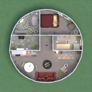 планировки дом спальня гостиная кухня 3d