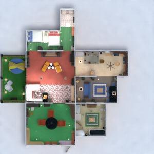 planos apartamento muebles decoración cuarto de baño dormitorio salón cocina iluminación descansillo 3d