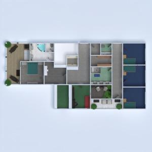planos apartamento casa terraza muebles cuarto de baño dormitorio salón garaje cocina exterior habitación infantil despacho comedor arquitectura trastero descansillo 3d