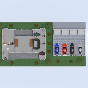 floorplans house garage kitchen outdoor dining room 3d