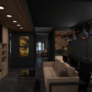 floorplans butas baldai dekoras vonia miegamasis svetainė virtuvė apšvietimas renovacija namų apyvoka sandėliukas studija prieškambaris 3d