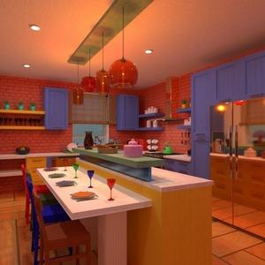 floorplans furniture decor kitchen dining room storage 3d