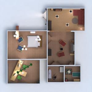 планировки дом гараж 3d