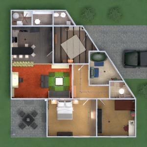 floorplans butas namas baldai dekoras vonia miegamasis svetainė virtuvė eksterjeras vaikų kambarys apšvietimas valgomasis аrchitektūra prieškambaris 3d