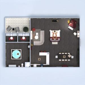 planos apartamento muebles decoración cuarto de baño dormitorio 3d