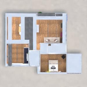 floorplans apartment furniture decor bedroom kitchen office lighting renovation architecture 3d