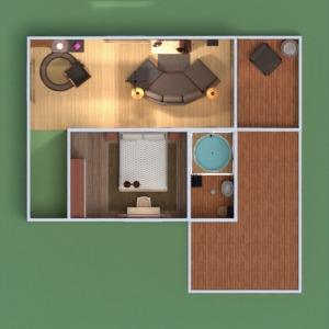 floorplans dom wystrój wnętrz pokój dzienny kuchnia na zewnątrz 3d
