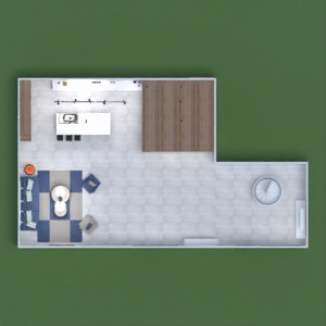 floorplans house living room kitchen dining room 3d