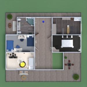 floorplans décoration chambre à coucher salon cuisine eclairage 3d