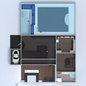 floorplans dom taras meble łazienka sypialnia 3d