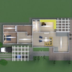 planos casa terraza muebles decoración cuarto de baño dormitorio salón cocina exterior reforma paisaje arquitectura 3d