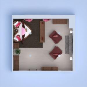floorplans butas baldai dekoras miegamasis apšvietimas 3d