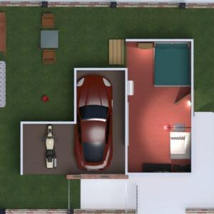 floorplans apartment house garage 3d