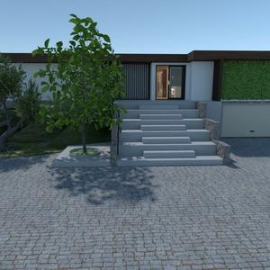 floorplans dom meble na zewnątrz oświetlenie 3d
