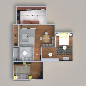 floorplans apartment bedroom kitchen lighting architecture 3d