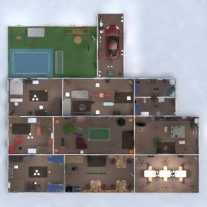 floorplans house terrace decor 3d