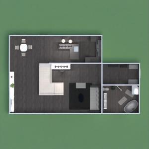 floorplans apartamento muebles cuarto de baño cocina descansillo 3d