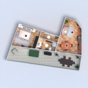floorplans apartment house terrace bathroom bedroom living room kitchen cafe dining room architecture 3d