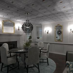 floorplans apartamento mobílias decoração iluminação sala de jantar 3d