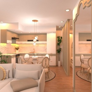 floorplans apartment terrace bedroom living room lighting 3d