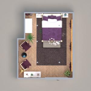 planos muebles decoración dormitorio iluminación 3d