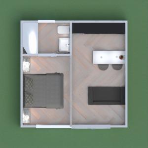 floorplans namas miegamasis svetainė virtuvė studija 3d