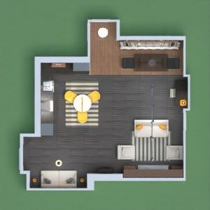 floorplans apartment house decor living room kitchen 3d