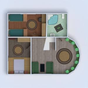 floorplans namas terasa vonia miegamasis svetainė garažas virtuvė eksterjeras vaikų kambarys apšvietimas renovacija kraštovaizdis 3d
