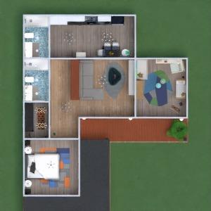 floorplans decoração dormitório quarto infantil utensílios domésticos arquitetura 3d