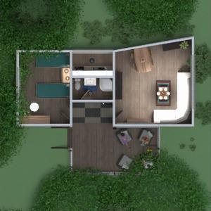 floorplans haus schlafzimmer wohnzimmer küche outdoor beleuchtung landschaft architektur lagerraum, abstellraum studio eingang 3d