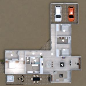 floorplans dom taras biuro oświetlenie architektura 3d