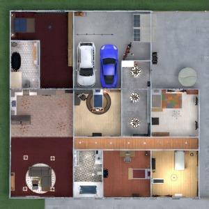 floorplans casa cuarto de baño dormitorio garaje exterior 3d