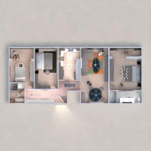 floorplans apartamento habitación infantil reforma estudio 3d