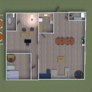floorplans butas namas baldai vonia miegamasis 3d