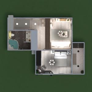 planos apartamento muebles decoración cuarto de baño dormitorio salón cocina iluminación reforma trastero estudio descansillo 3d