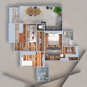 floorplans apartment terrace decor bathroom bedroom kitchen lighting household dining room architecture 3d