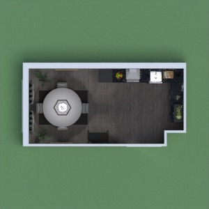 floorplans furniture kitchen household cafe architecture 3d