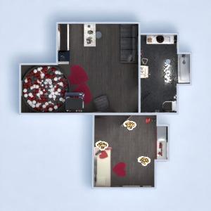 progetti casa arredamento decorazioni camera da letto monolocale 3d