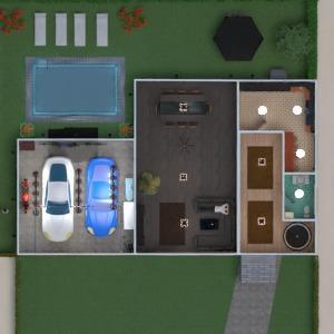 planos casa terraza muebles cuarto de baño cocina 3d