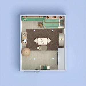 floorplans namas baldai dekoras miegamasis svetainė 3d